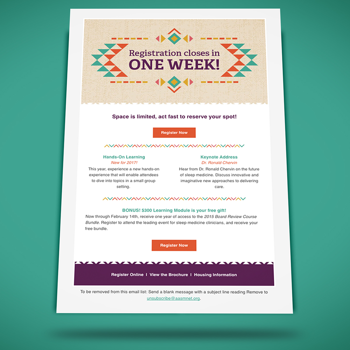 event email template