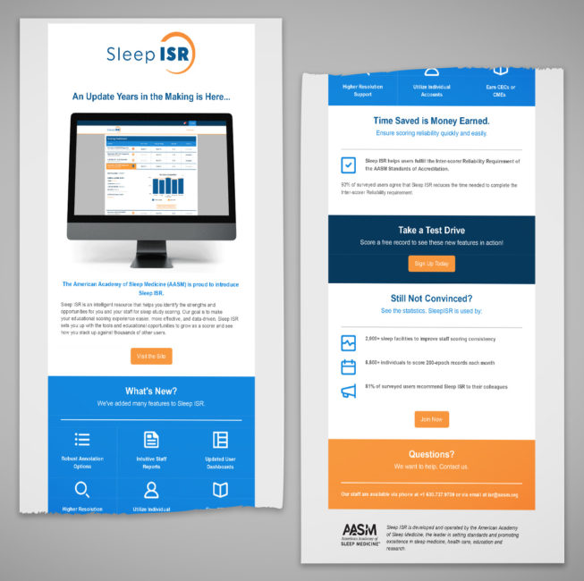 Sleep ISR Launch Email