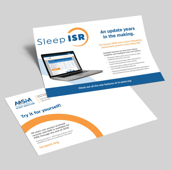 Sleep ISR Launch Postcard